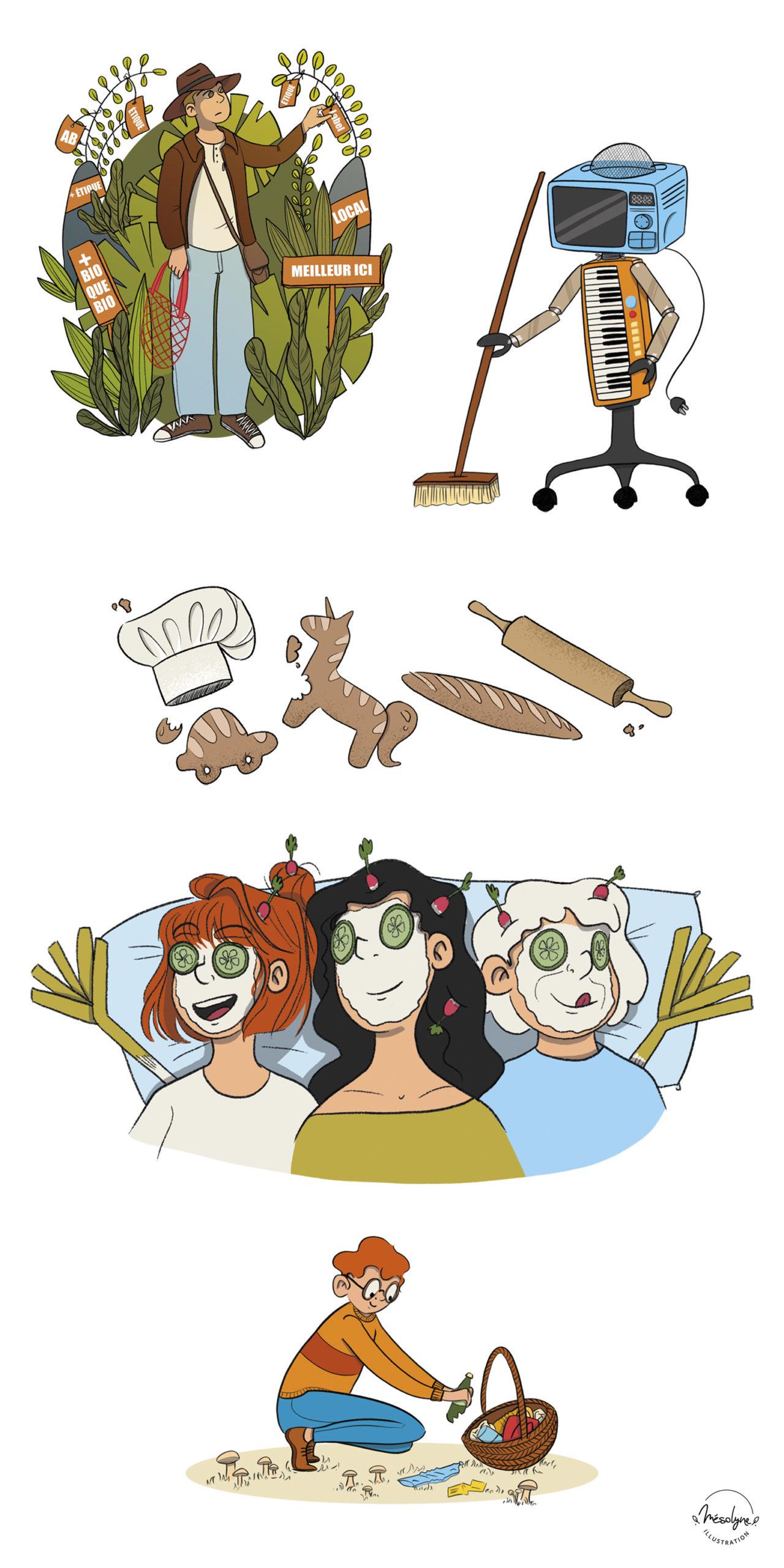 Illustrations sur l'écologie